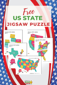 It's so important to learn about the United States geography and what better way to learn than to use this USA State jigsaw puzzle?!