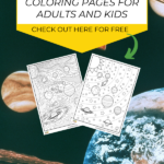 When you use coloring pages to teach kids about various areas in life, they retain the information for longer. Today I'll share a few reasons why coloring is beneficial for kids and what you can do with this space coloring page for kids. #printable #ColouringPages
