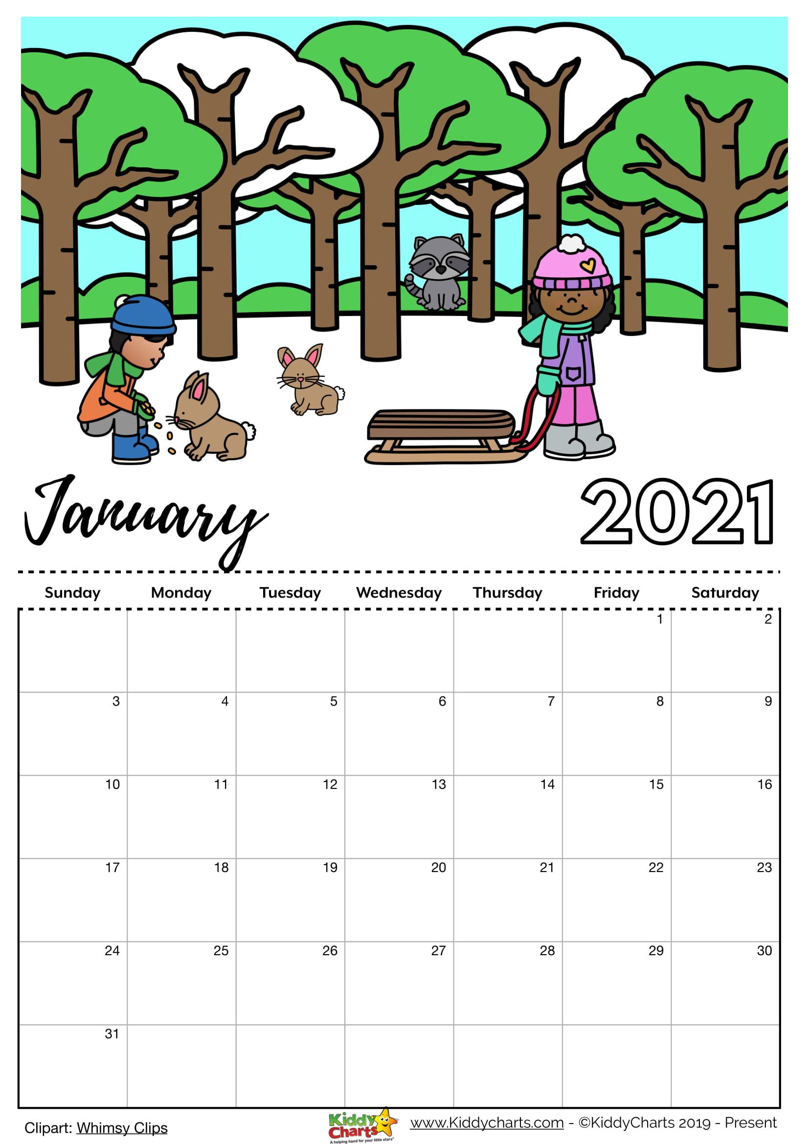 Editable 2021 Calendar for Sale   kiddycharts.com