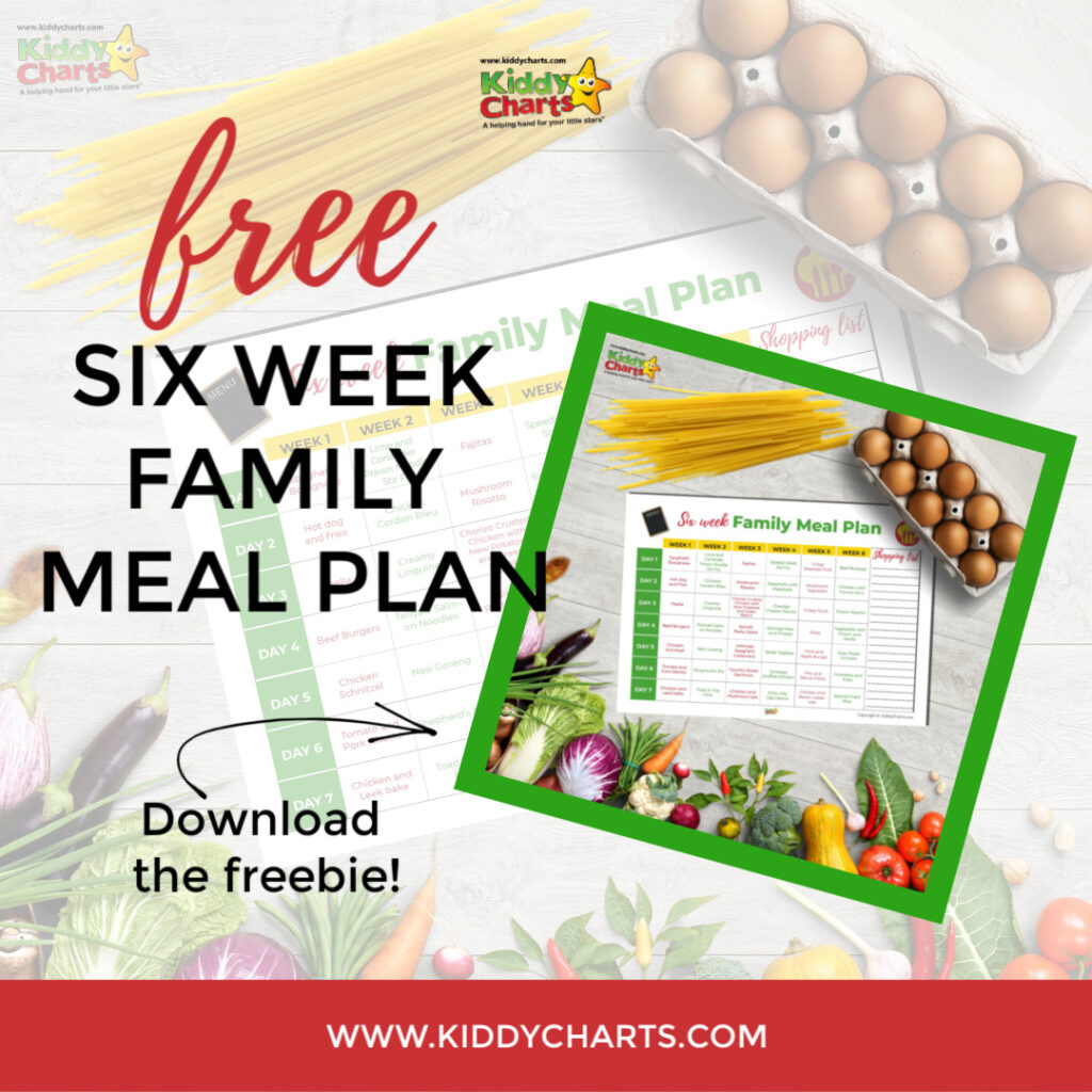 Family meal plan: 6 week family meal plan - Kiddy Charts