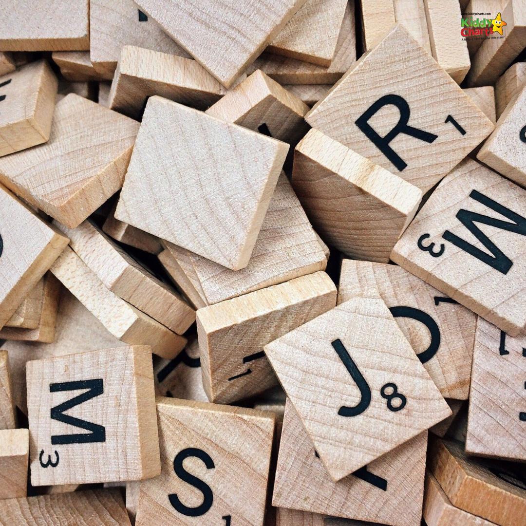 Wooden Scrabble blocks