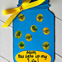 """Firefly """"You Light up my Life"""" Mother's Day Card (Free Printable)"""