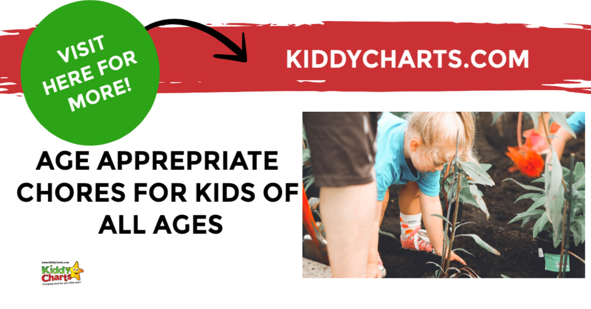 Age appropriate chores for kids of all ages