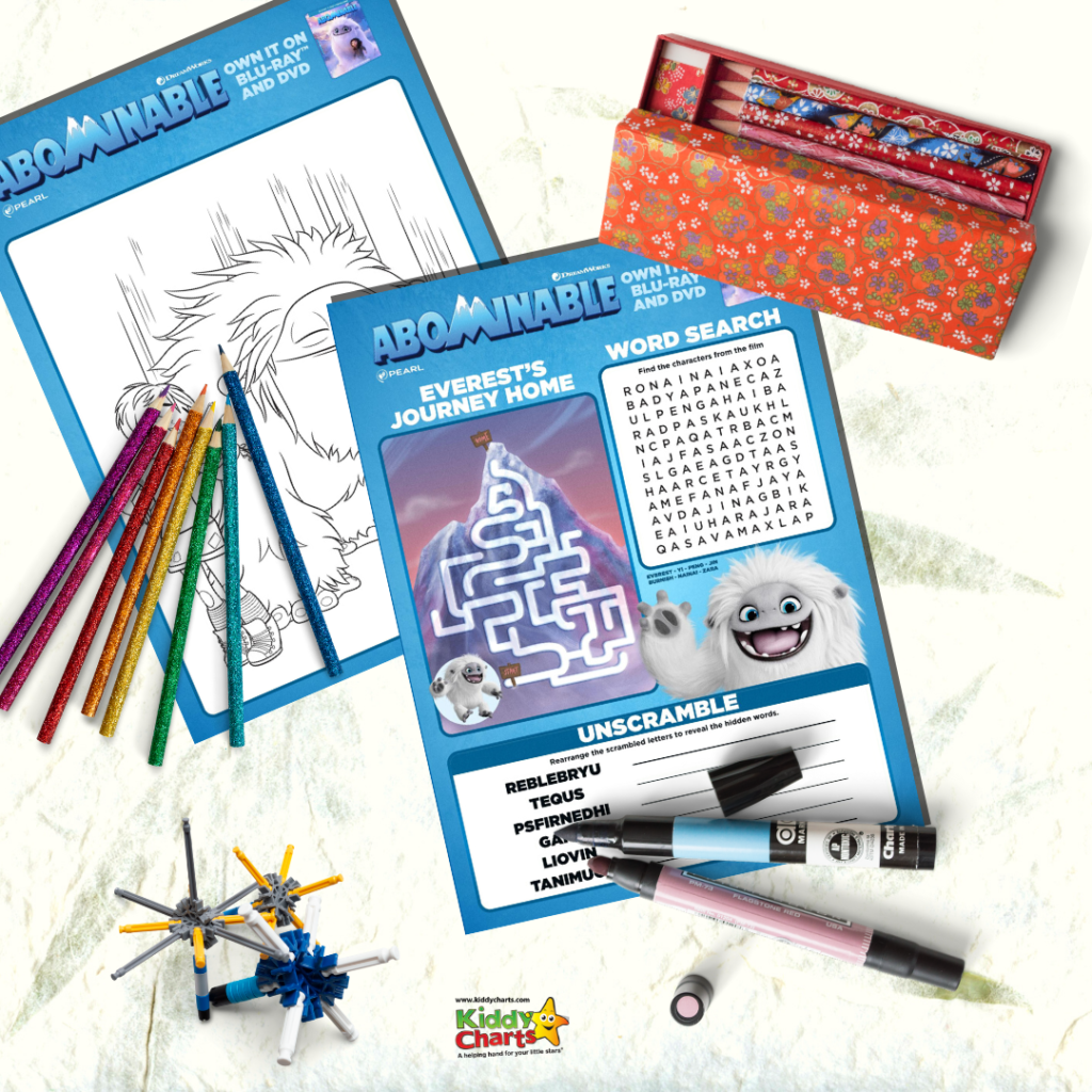 Get your kids even more excited for the release of the upcoming Abominable movie with these free Abominable activity sheets!