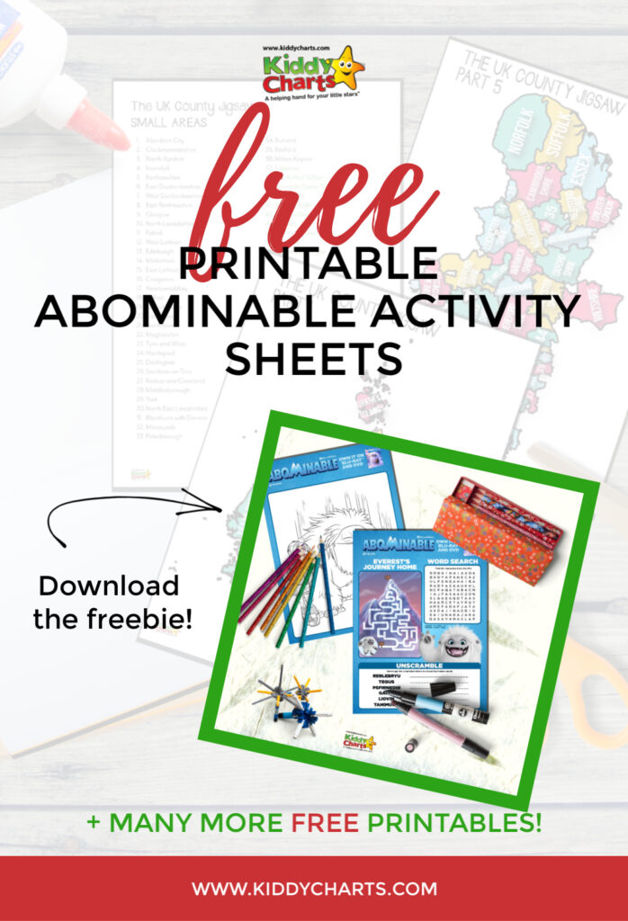 Abominable Activity Sheets - Free Printabes From Kiddy Charts