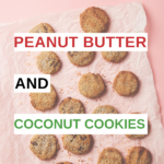 These peanut butter and coconut cookies are jam-packed with protein, mono- and poly-unsaturated fats, iron, and zinc making them a sweet treat that's good for you. #Snack #Recipes #Cookies