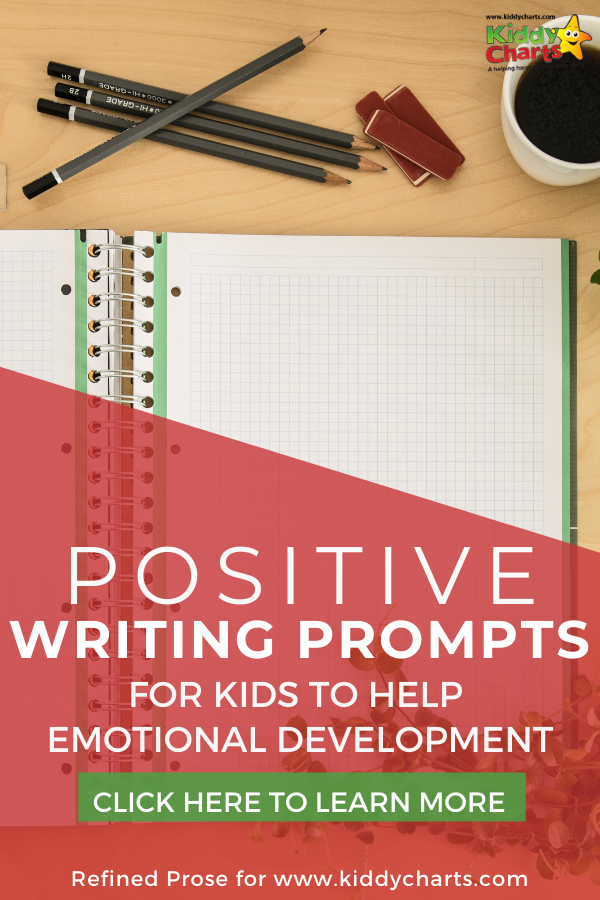 Positive writing prompts for kids to help emotional development