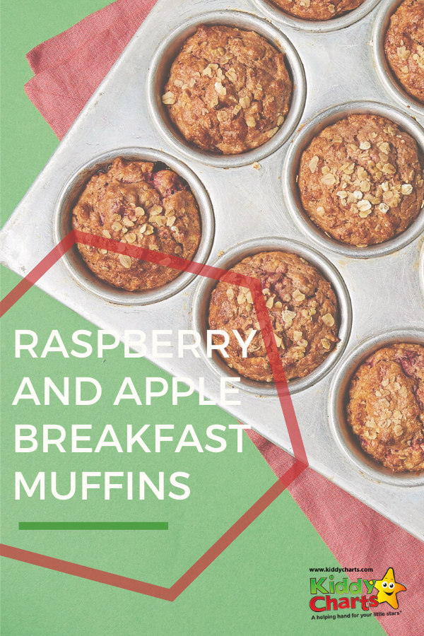 Raspberry and apple breakfast muffins
