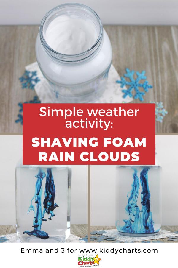 Simple weather activity shaving foam rain clouds
