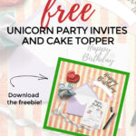 Throwing a unicorn party is a fun way to enjoy the magic of unicorns with your kids. Today we're sharing our favorite unicorn party invites and cake topper printables so you can throw a festive party without the extra costs. #Printable #Unicorn #PartyIdeas