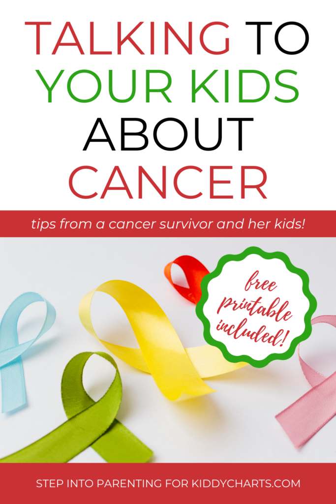 talking to your kids about cancer - a guide and free printables