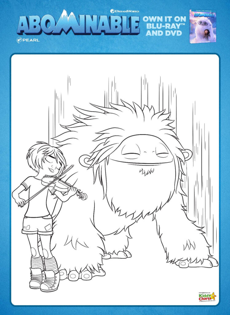 Abominable activity sheets