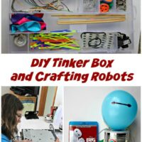 Make Your Own Tinker Box & Build Robots {STEM Project for Kids}