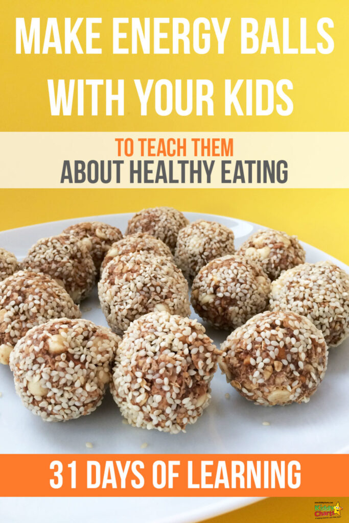Make energy balls with your kids and teach them about healthy eating!