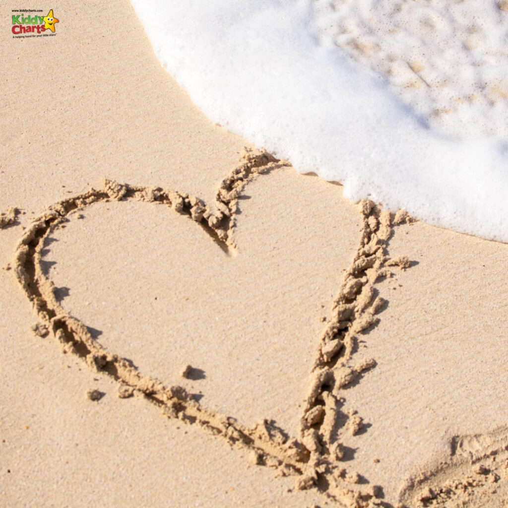 Heart drawn in sand by sea shore #31DaysOfLearning