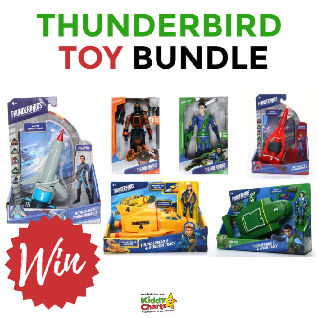 We have TWO Thunderbirds are Go toy bundles to give away to two lucky winners!