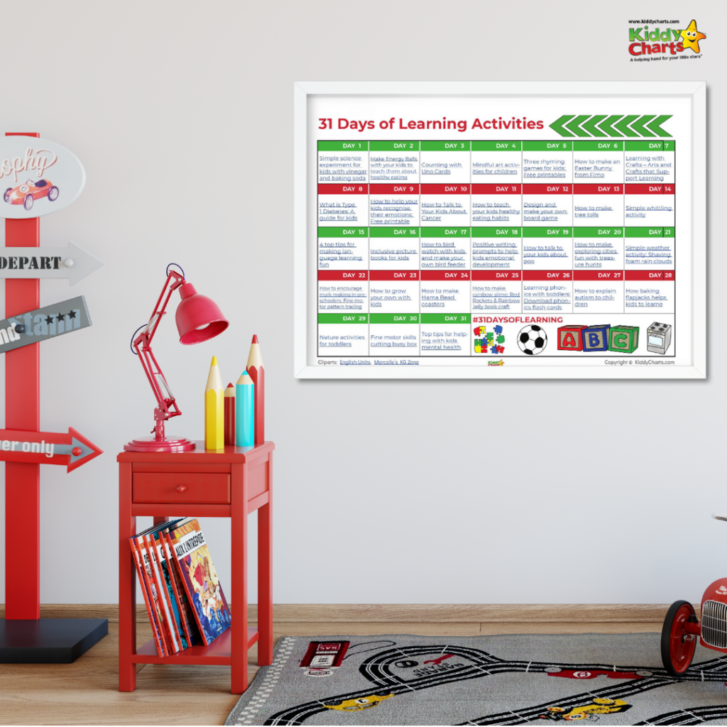 31 Days of learning activities for kids