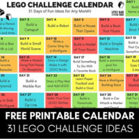 Printable LEGO Challenges for Kids