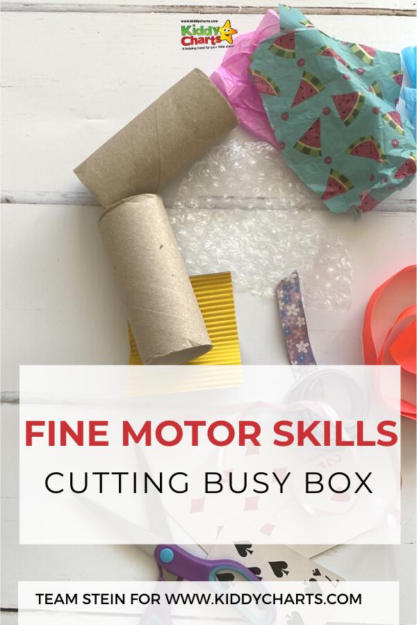 fine motor skills cutting busy box