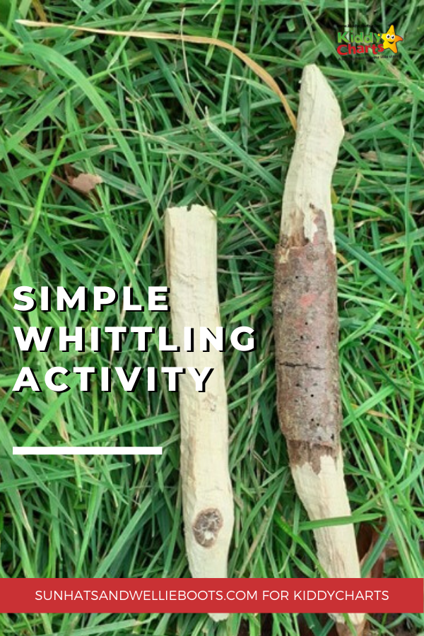 simple whittling activity for kids