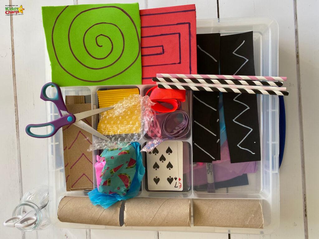 fine motor skills busy box materials