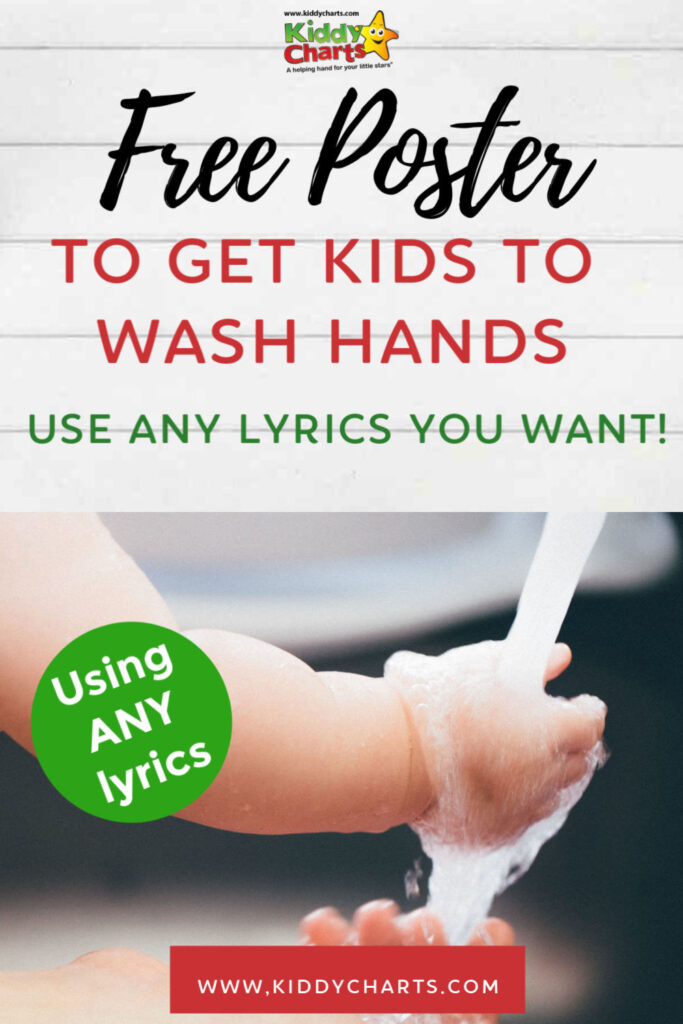 Free poster to get kids to wash their hands. Use any lyric you want! #CoronaVirusUpdate
