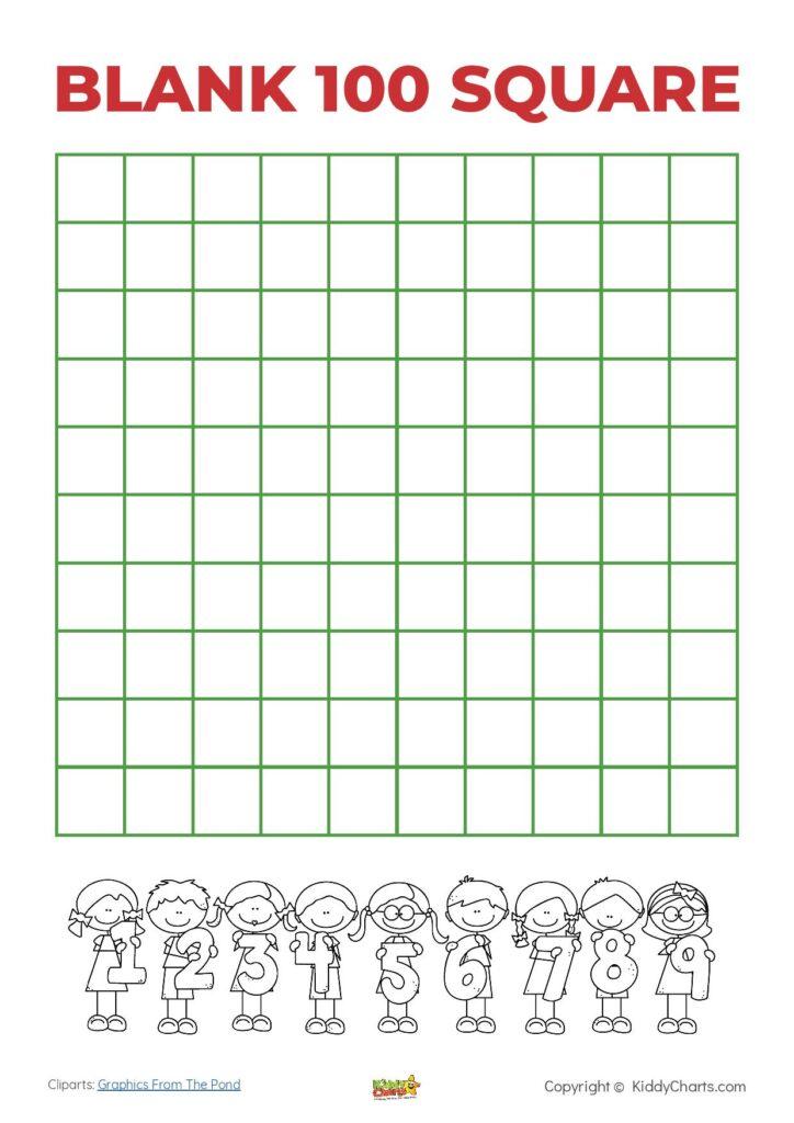 100 square chart actvities
