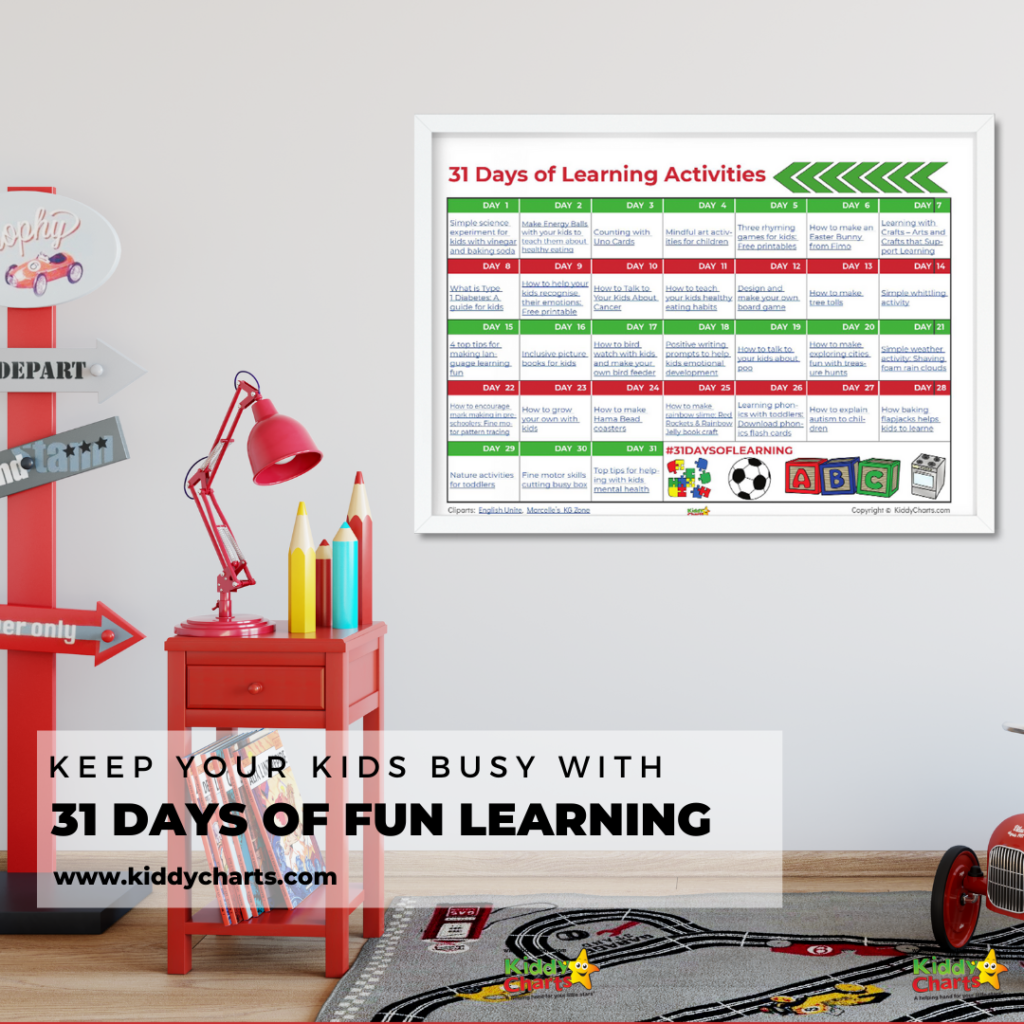 Keep your kids busy with 31 days of learning acctivities