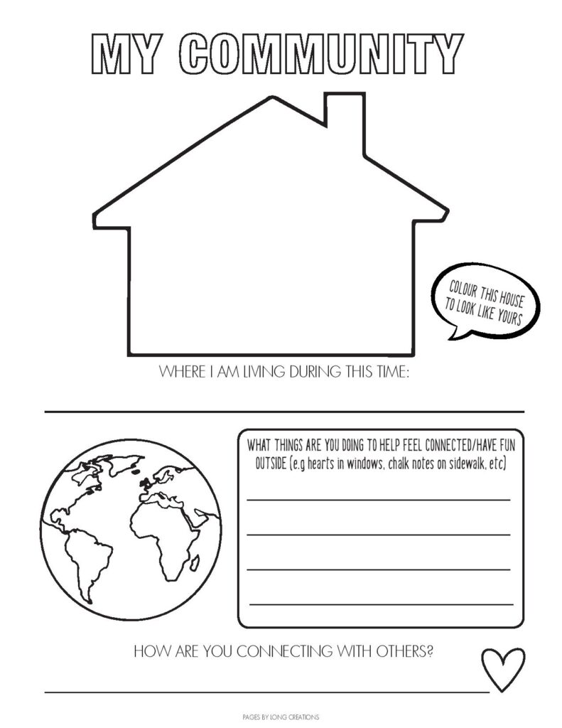 2020 Covid-19 time capsule my community free printable