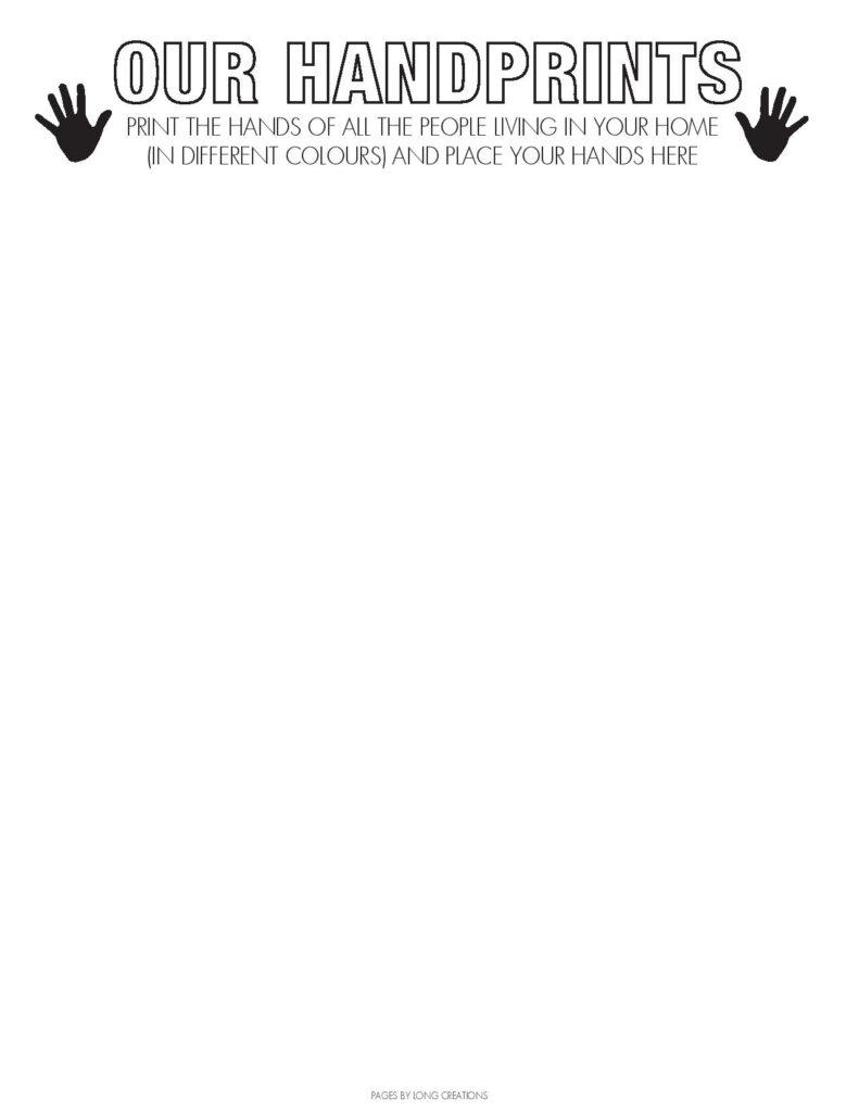 2020 Covid-19 timecapsule handprints free printable