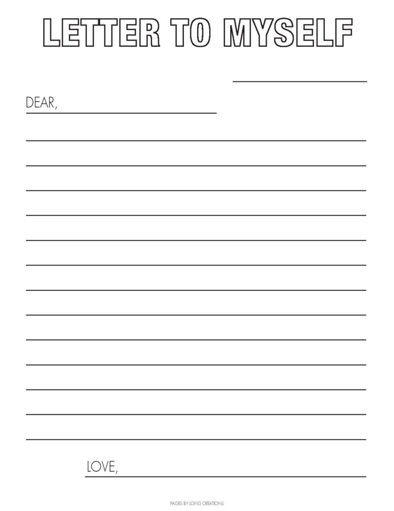 2020 Covid 19 time capsule letter to myself free printable