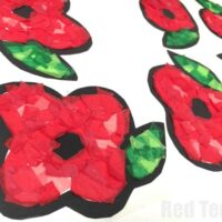 Poppy Suncatchers for Preschoolers - Red Ted Art