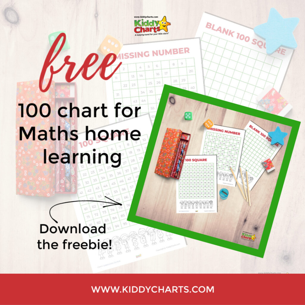 100 square chart actvities
