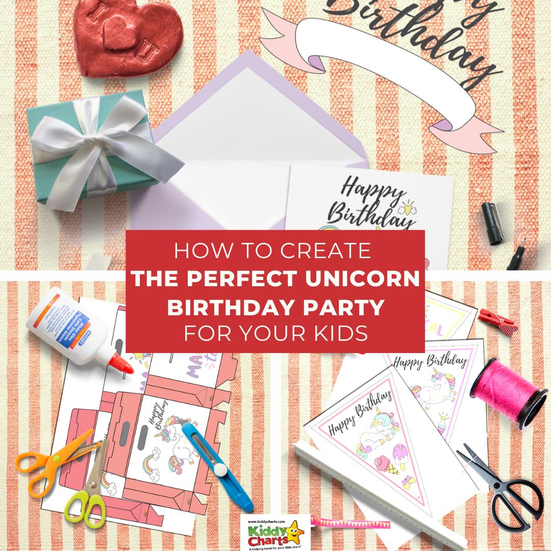 free printable unicorn party favors