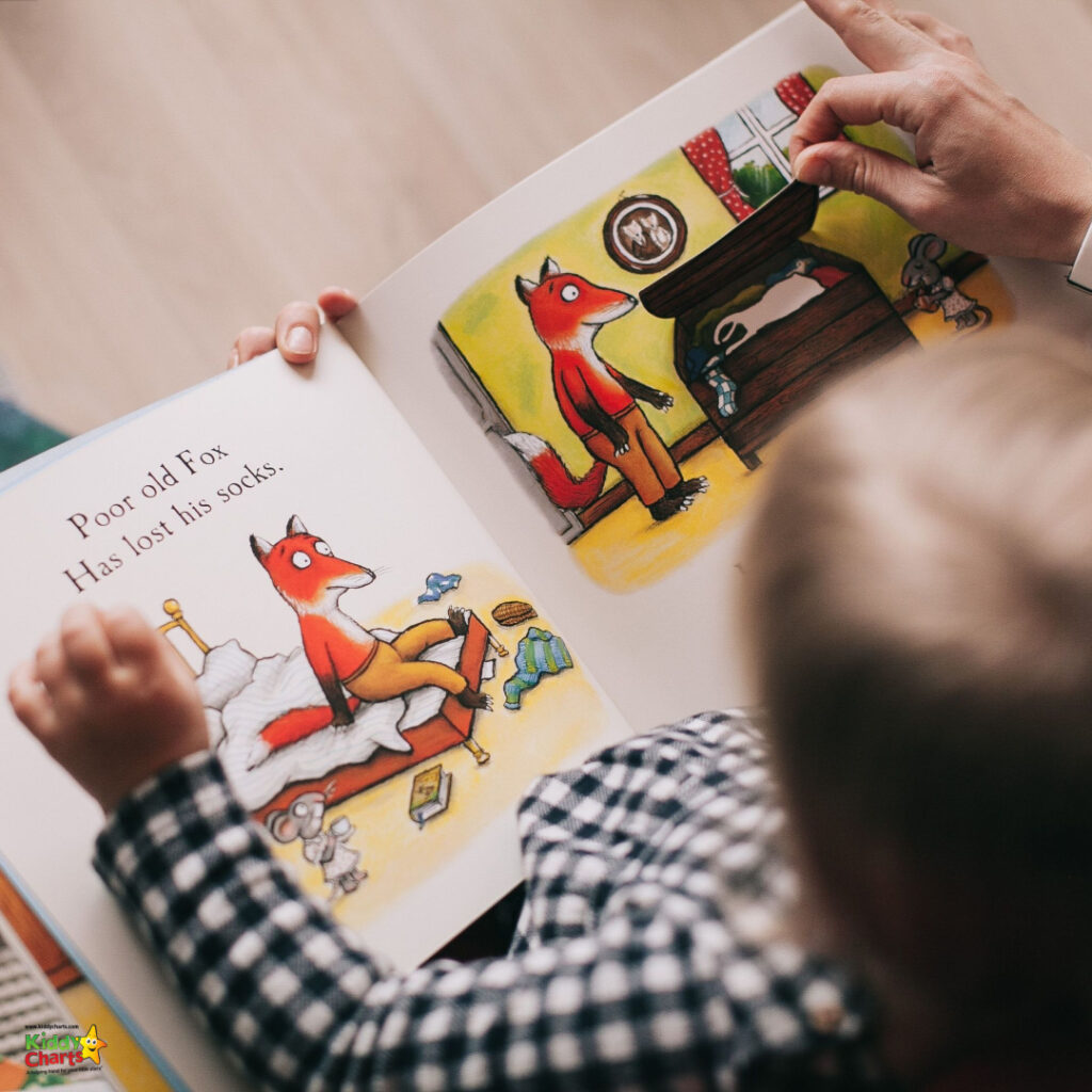 kid reading with adult