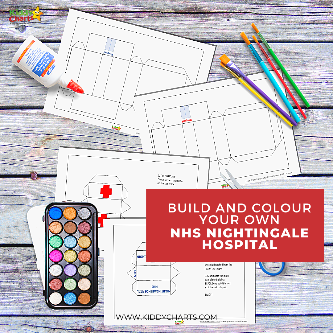 Build and colour your own NHS Nightingale hospital