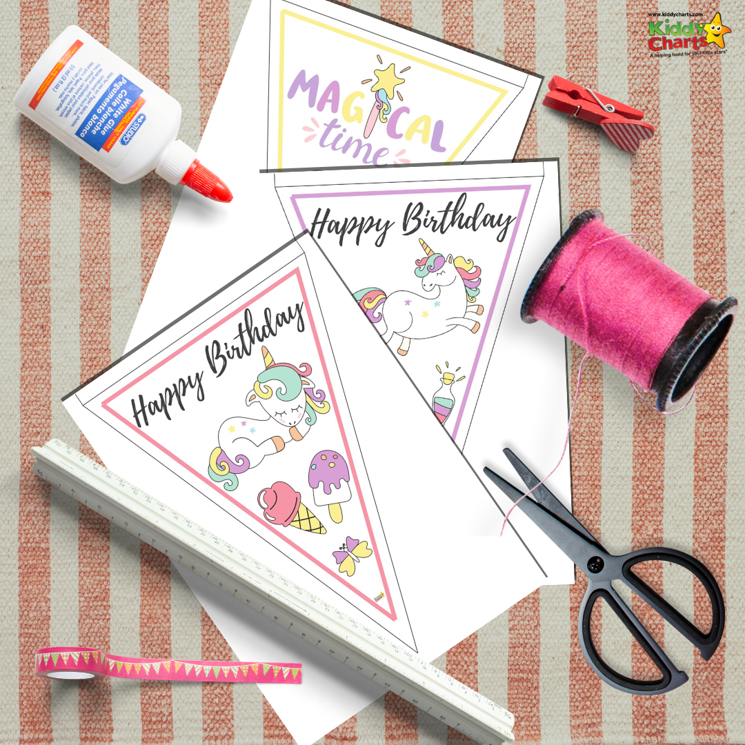 Free Printable Unicorn Bunting For A Special Birthday Theme