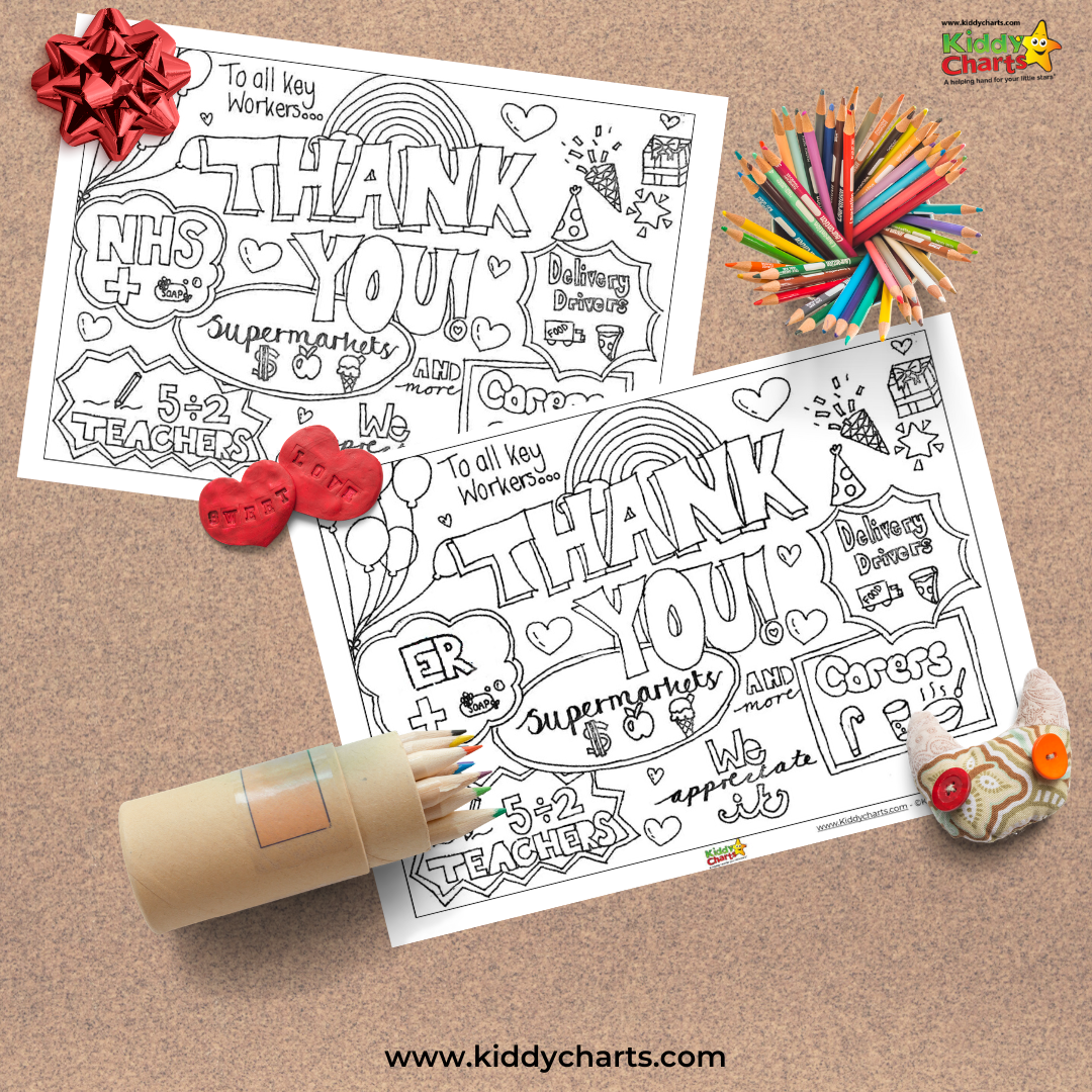 Free printable thank you key workers
