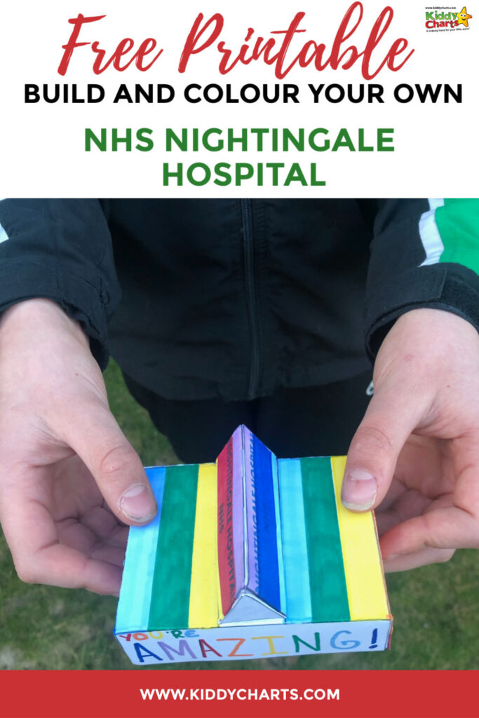 Build and colour your own NHS Nightingale Hospital free printable