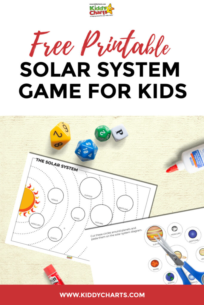 Free printable solar system game for kids