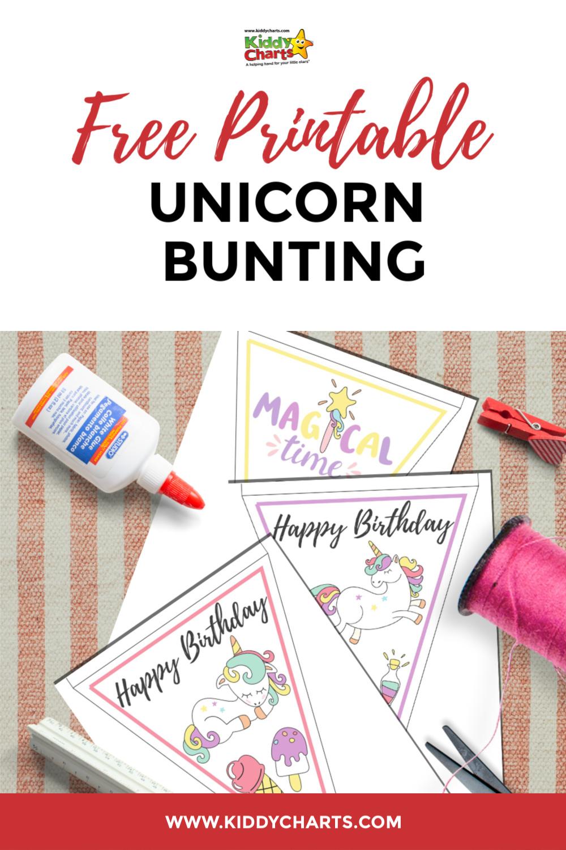 free printable unicorn bunting
