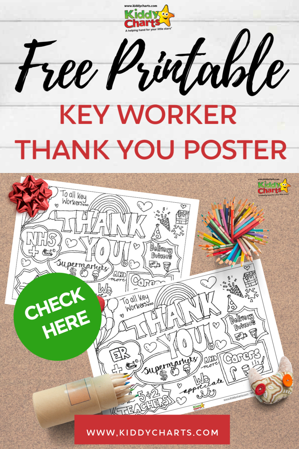Free printable key worker thank you poster