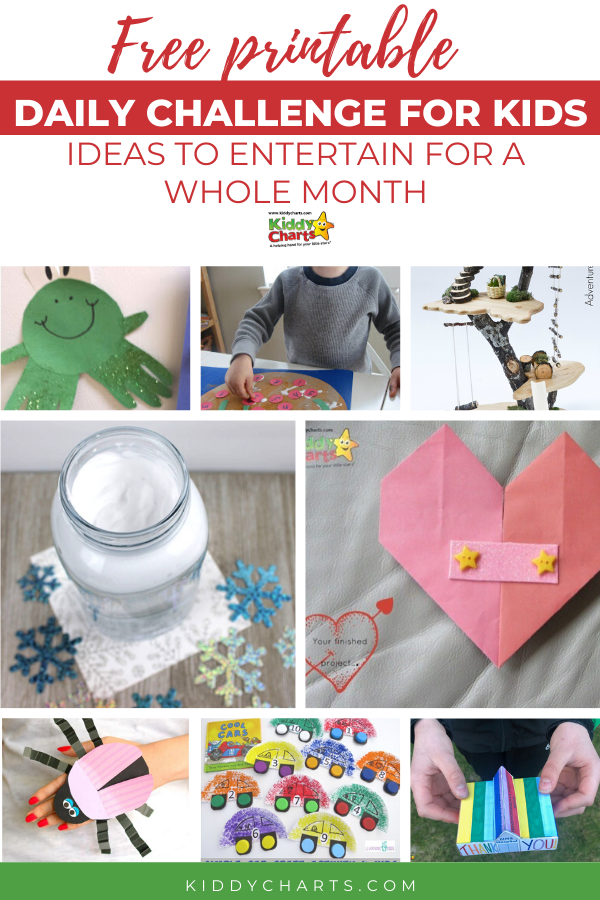 Free challenges for kids - 31 day maker challenge