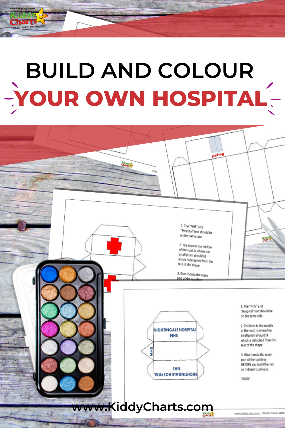 Build and colour your own NHS Nightingale Hosptial