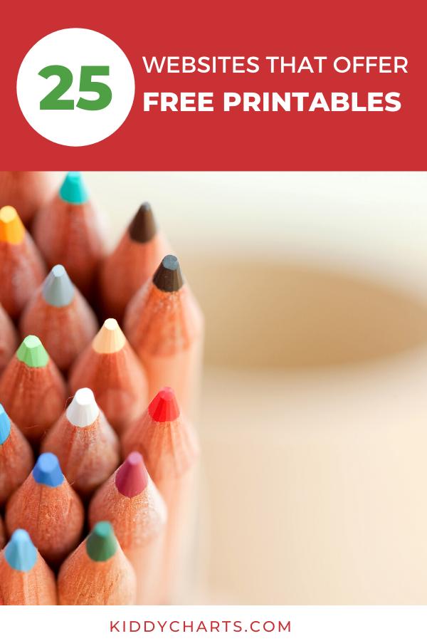 25+ websites that offer free printables