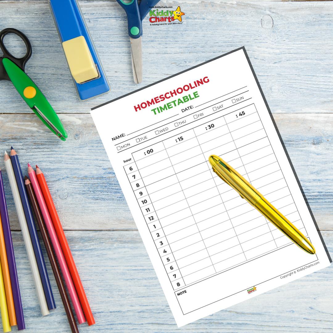 free homeschooling timetable printable