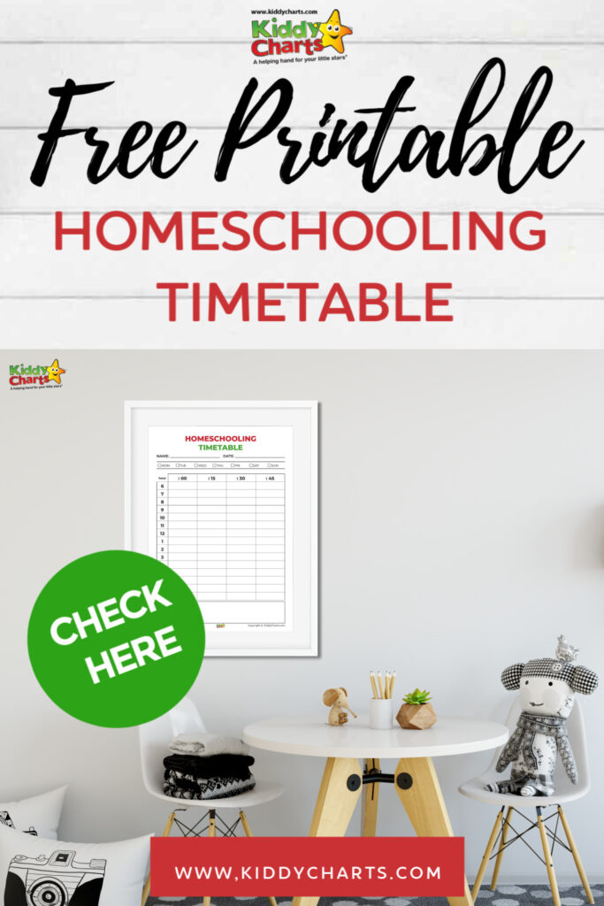 free printable homeschooling timetable