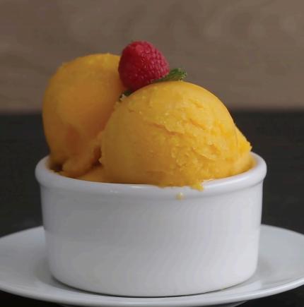3 Ingredient Mango Sorbet