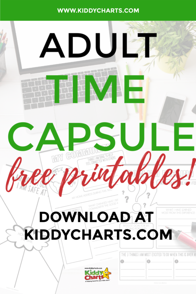 Covid-19 time capsule for adults free printable
