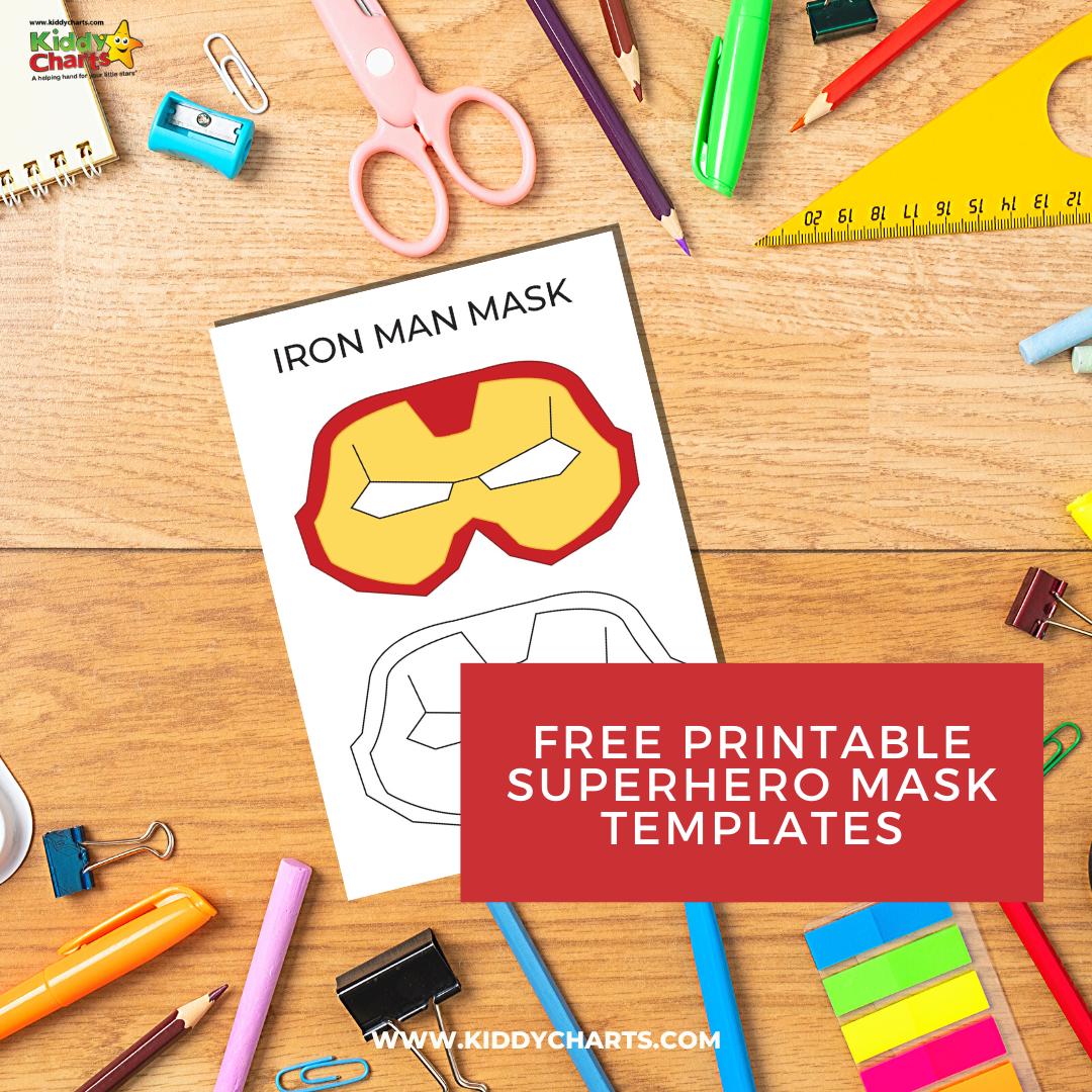 Free Printable Superhero Mask Templates Kiddycharts